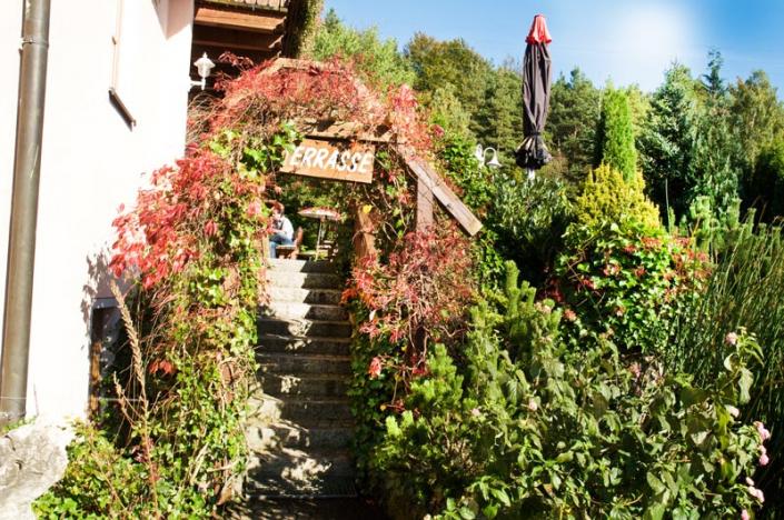 Eingang zur Terrasse